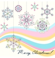 Vintage Christmas background with stylized vector image vector image