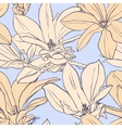 Vintage magnolia seamless pattern vector image
