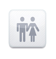 white wc icon Eps10 Easy to edit vector image vector image
