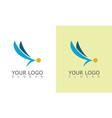 wing company logo vector image vector image