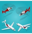 Passenger Airplane Private jet Passenger vector image