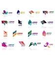 Geometric shapes company logo set paper origami vector image