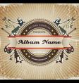 Vintage music sign vector image