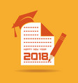 2018 calendar for new year celebration vector image