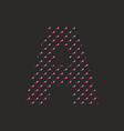 a dotted alphabet letter isolated on black vector image