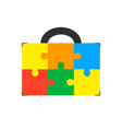 an isolated briefcase icon with a vector image vector image