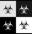 biohazard symbol icon isolated on black white and vector image vector image