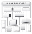 blank billboard mockup for advertisement vector image vector image
