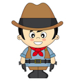Child dressed as cowboy vector image