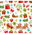 christmas holiday seamless pattern background vector image