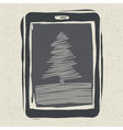 Christmas tree on tablet device vector | Price: 1 Credit (USD $1)