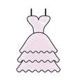 color crayon stripe image wedding dress fashion vector image vector image