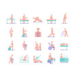 colorful collection essential physiotherapy vector image
