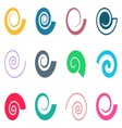 Colorful spiral icons vector image vector image