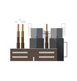 contemporary factory building with pipes emitting vector image vector image