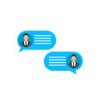 correspondence of two people chat of two people vector image vector image