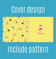 cover design with dancing girls pattern vector image