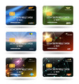 credit or debit cards vector image