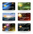 credit or debit cards vector image vector image