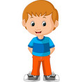 cute boy cartoon vector image vector image