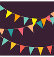 cute festive colorful flags on vector image vector image
