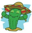 Dance Cactus vector image