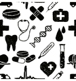 doodle medical seamless pattern vector image vector image