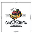 emblem with sandwich vector image