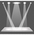 Empty Shelf Isolated Spotlights Set vector image