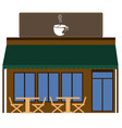 front view of a coffee shop vector image