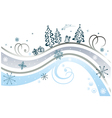frozen flourishes with snowflakes vector image vector image