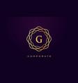 g luxury logo monogram letter design vector image