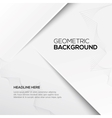 Geometric gray 3D background vector image