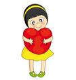 girl heart vector image vector image