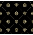 Golden royal baroque pattern vector image vector image