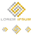 Golden silver technology company symbol set vector image vector image