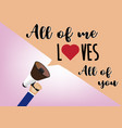 hand holding megaphone to speech love message vector image vector image