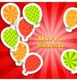 Happy birthday colorful applique background vector image vector image