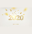 happy new year card over white background with vector image vector image