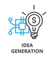 idea generation thin line icon sign symbol vector image vector image