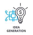 idea generation thin line icon sign symbol vector image