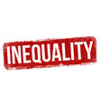 inequality sign or stamp vector image