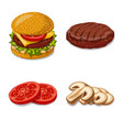isolated object of burger and sandwich logo set vector image
