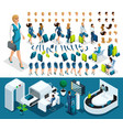 isometric set create your character vector image vector image