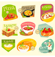 italian food labels vector image vector image