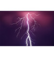 lightning flash on colored background vector image vector image