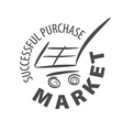 logo shopping cart in a store vector image
