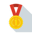 medal color icon vector image vector image
