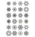 mega set of doodle design star shapes elegant vector image