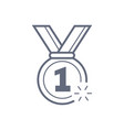 military reward medal line icon outline vector image vector image